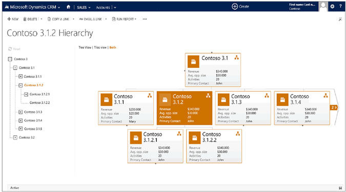 Microsoft CRM 2015 Hierarchy