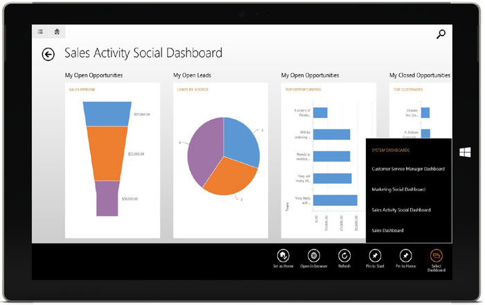 Microsoft CRM 2015 Mobile Tablet