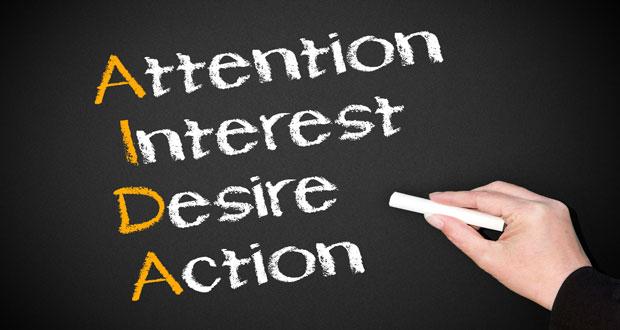 کاربرد مدل AIDA در بازاریابی و فروش